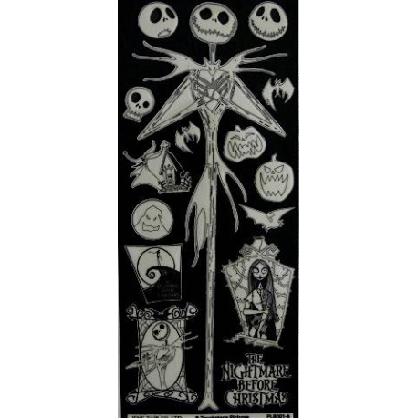 Nightmare Before Christmas Glow in the Dark Stickers