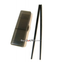 Japanese Bento Chopsticks with Case PORTABLE Black