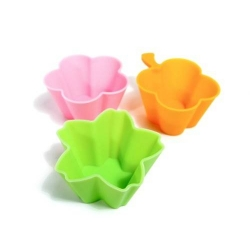 Bento Accessories Silicone Food Cup Flower