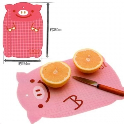 Japanese Bento Decoration Cutting Board Sheet with Cutting Line Pink