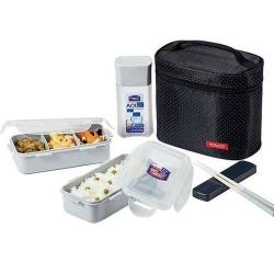 Microwavable Airtight Bento Lunch Box Set, BPA Free Water Bottle Black