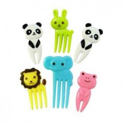 Japanese Bento Accessory Cute Food Pick Animal 6 pcs for Bento Box