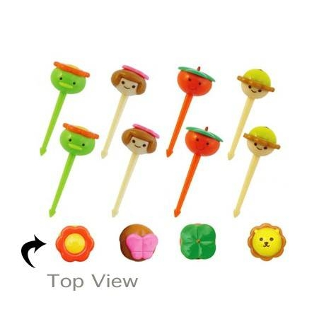 Japanese Bento Accessory Cute Face 8 pcs for Bento Box