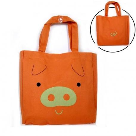 Japanese Bento Accessories Bento Bag for Bento Lunch Box Orange Pig