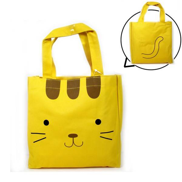japanese bento accessories bento bag for bento lunch box yellow cat. Black Bedroom Furniture Sets. Home Design Ideas