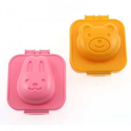 Hard Boiled Egg Mold Rabbit Bear for Bento Decoration