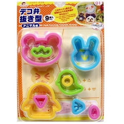 Japanese Bento Decoration Ham Cheese Cutter Set 9pcs Animal