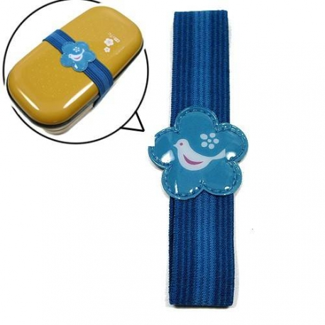 Japanese Bento Box Elastic Belt Lunch Box Bento Strap Blue