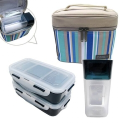 Microwavable Airtight Bento Lunch Box Set with Bottle BPA Free