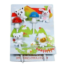 Japanese Bento Accessory Cute Food Pick Animal