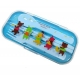 Japanese Bento Fork Spoon Chopsticks and Case 4 in 1 - Animal Blue