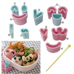 Japanese Bento Decoration Ham Cheese Cutter Face 13 pcs