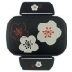 Microwavable Japanese Bento Box Lunch Box with Chopsticks Black