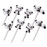 Japanese Bento Accessory Food Pick Panda 3D food picks 8 pcs