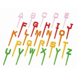 Japanese Bento Accessory Food Pick Alphabet Letter Set 26 pcs