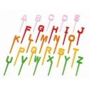 Japanese Bento Accessory Food Pick Letter Set 26 pcs