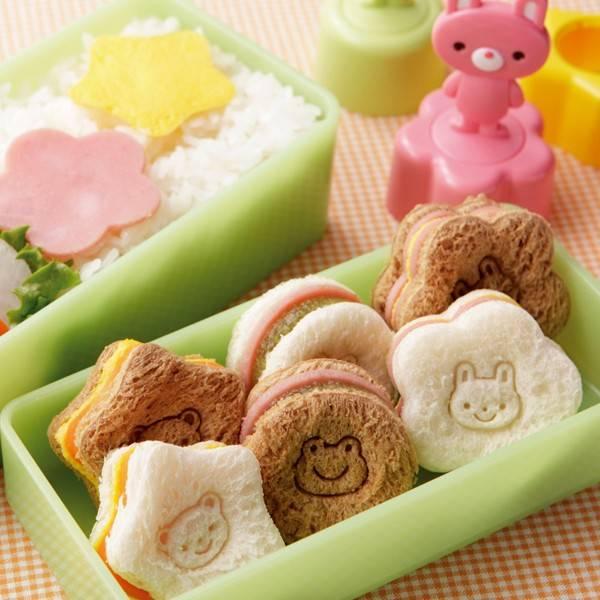 japanese bento box accessories sandwich vegetable cutter 3 stamps. Black Bedroom Furniture Sets. Home Design Ideas