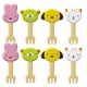 Japanese Bento Box Accessories Food Pick Animal Fork Pick 8 pcs