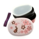 Japanese Bento Box 2 tier Lunch Box with Strap Gorgeous Rabbit