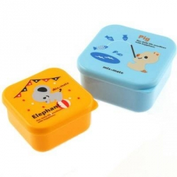 Microwavable Japanese Bento Box Lunch Box set of 2 MINI