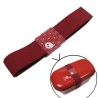 Japanese Bento Box Elastic Belt Lunch Box Bento Strap Red