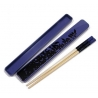 Japanese Bento Portable Chopsticks with Case Purple