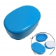 Microwavable Oval 2 Tier Bento Box Lunch Box Blue