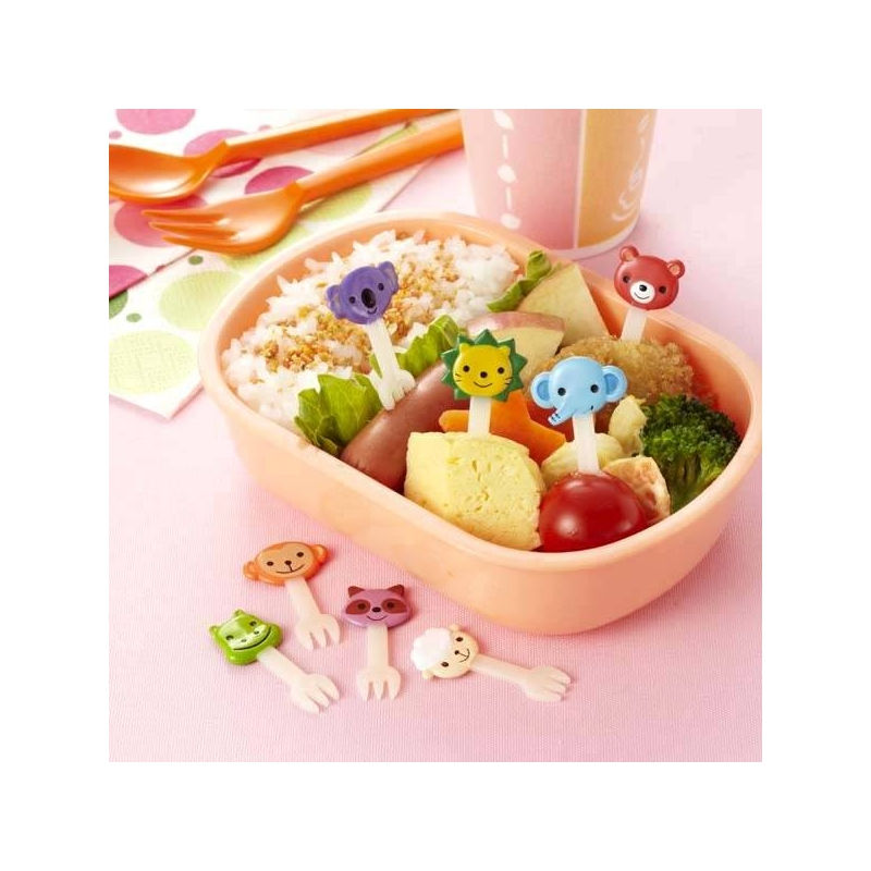 Japanese Bento Box Accessories Food Pick Cute Animal Fork 8 Pcs