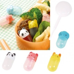 Japanese Bento Accessories Soy Sauce container with Dropper, animal shapes