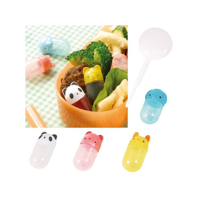 japanese bento accessories soy sauce container with dropper animal. Black Bedroom Furniture Sets. Home Design Ideas