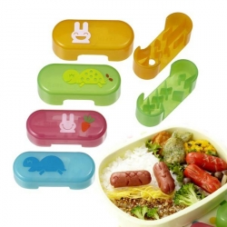 Japanese Bento Cute Food Wiener Cutter Rabbit and Turtle