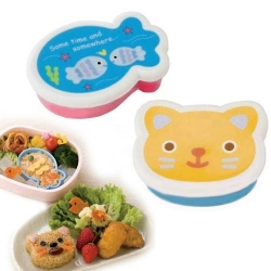 Japanese Bento Accessories Microwavable Food Cup with Lid - Fish Cat
