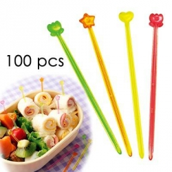Japanese Bento Cute Food Pick 100 pcs - Clear and Slim