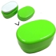 Microwavable Oval 2 Tier Bento Box Lunch Box Green