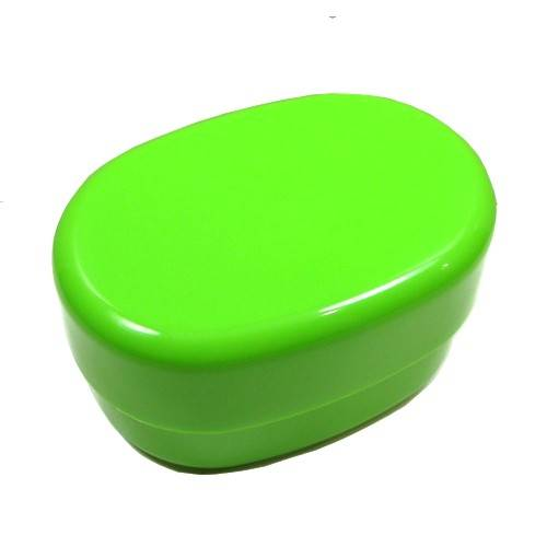 microwavable oval 2 tier bento box lunch box green for bento box. Black Bedroom Furniture Sets. Home Design Ideas