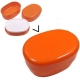 Microwavable Oval 2 Tier Bento Box Lunch Box Orange