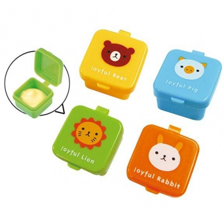 Japanese Bento Box Accessories Sauce Container set of 4 Animal Mayo Cup