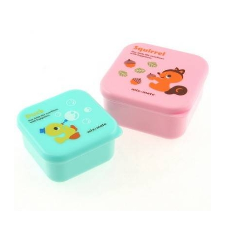 microwavable japanese bento box lunch box set of 2 mini squirrel du. Black Bedroom Furniture Sets. Home Design Ideas