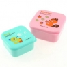 Microwavable Japanese Bento Box Lunch Box set of 2 MINI Squirrel Duck