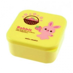 Microwavable Japanese Bento Box Lunch Box Cute Yellow Rabbit 400 ml