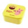 Microwavable Japanese Bento Box Lunch Box Cute Yellow Bunnie 400 ml