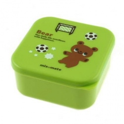 Microwavable Japanese Bento Box Lunch Box Cute Green Bear 400 ml