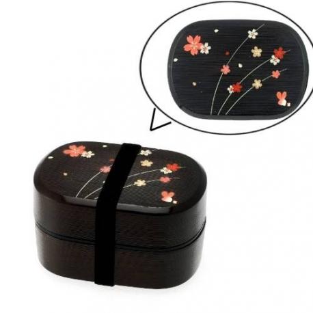 Microwavable Japanese Bento Box Lunch Box Sakura 2 Tier