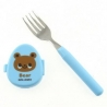 Japanese Bento Box Cutlery Fork with Animal Case Blue