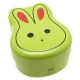 Japanese Bento Box 2 tier Lunch Box with Fork, Strap Green Rabbit