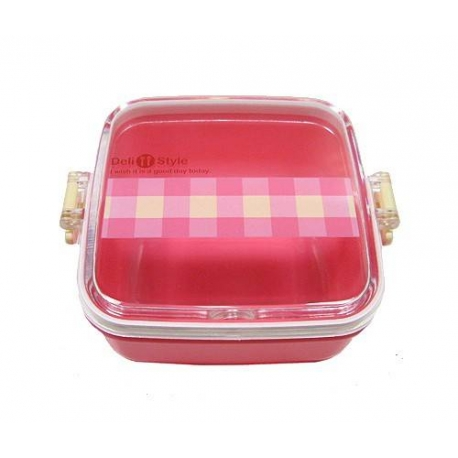Microwavable Japanese Bento Box Lunch Box Fruit Snack Pink