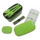Microwavable Japanese Bento Box Lunch Box Set with Spoon Fork Green