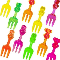 Japanese Bento Box Accessory Clear Animal Fork Food Pick 12 Pcs