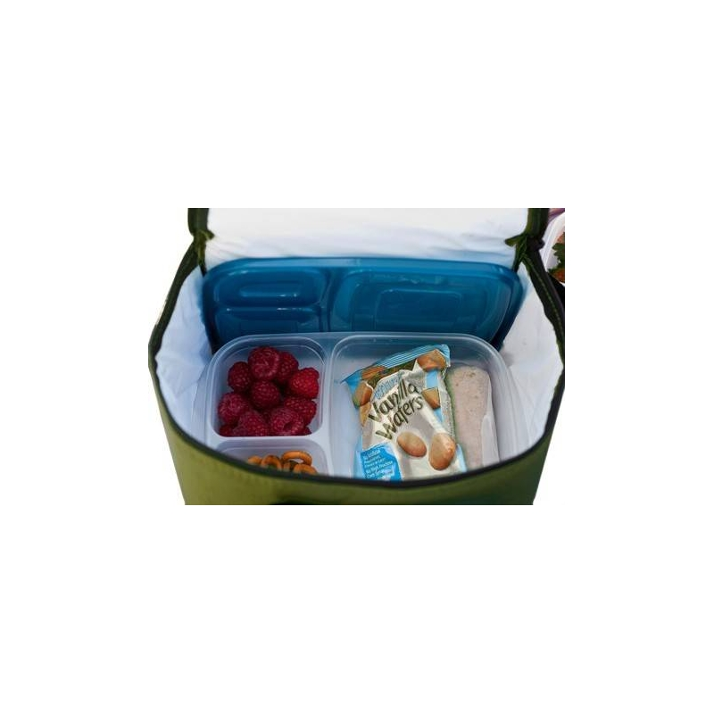 easylunchboxes cooler insulated bento lunch bag olive green for. Black Bedroom Furniture Sets. Home Design Ideas