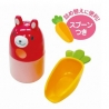 Japanese Bento Accessories Spice Container Furikake Rabbit with Carrot Spoon